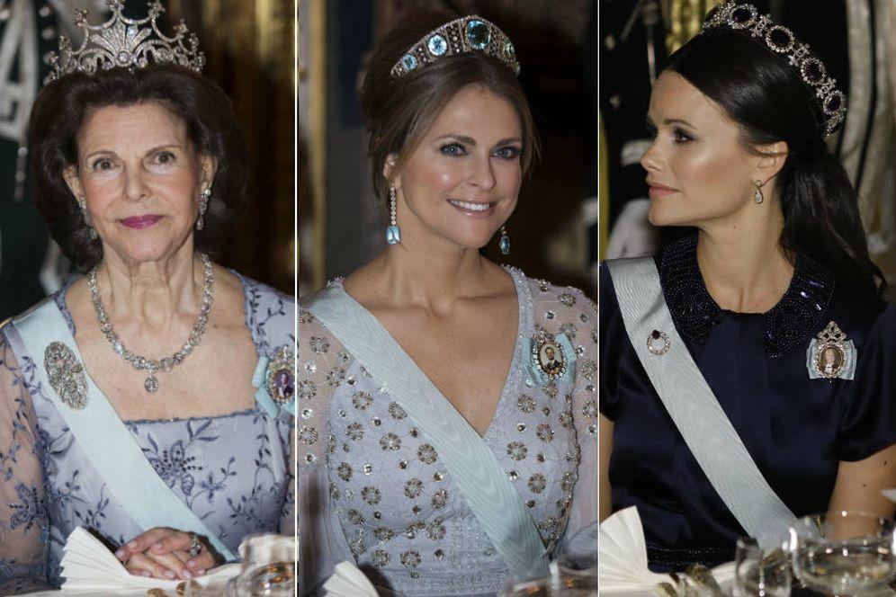 Foto: Silvia, Magdalena y Sofía de Suecia durante la cena de gala