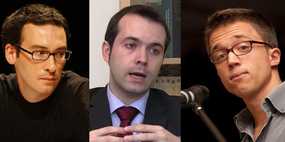 Foto: Cesar Rendueles, Juan Ramón Rallo e Iñigo Errejón. (Efe/Efe/Gtres)