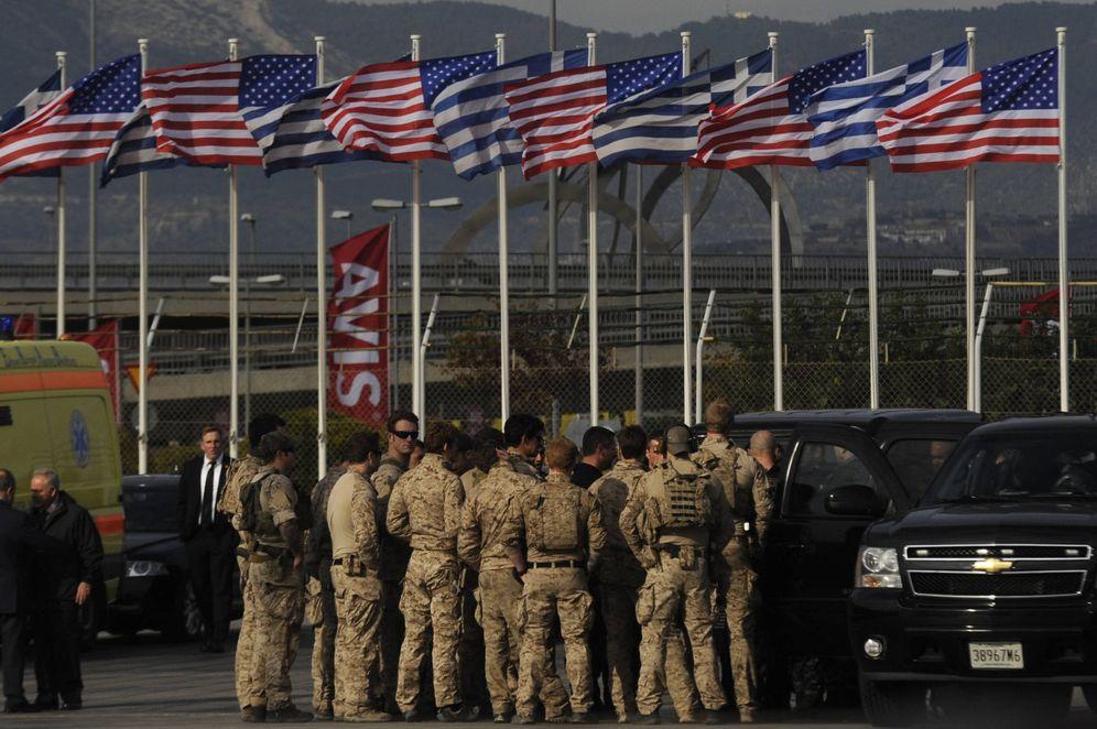 Foto: Militares estadounidenses en el aeropuerto internacional Eleftherios Venizelos de Atenas, en noviembre de 2016. (Reuters)
