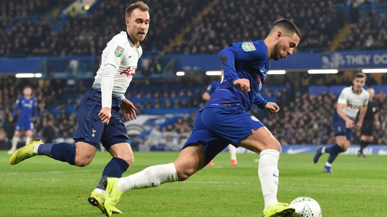 Eden Hazard en un partido contra el Tottenham. (Reuters)