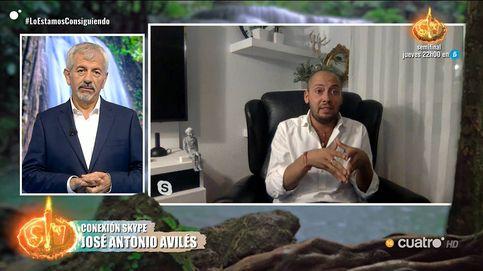 El zasca de Carlos Sobera a José Antonio Avilés en 'Supervivientes 2020': Te has desintoxicado a base de intoxicar al resto