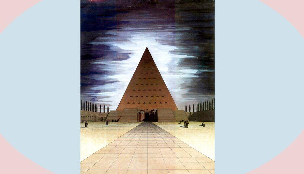 Foto: La pirámide de Luis Moya.