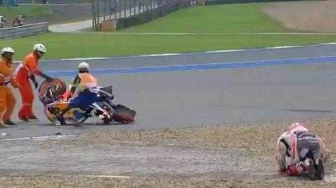 Márquez sufre una durísima caída en su fin de semana más importante del año