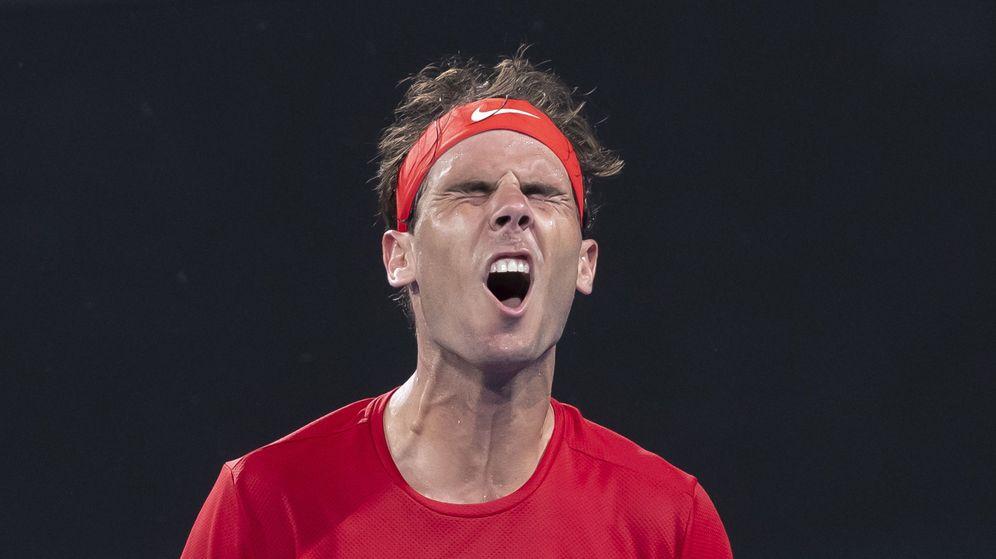 Foto: Rafa Nadal perdió su primer partido en la ATp Cup. (EFE)