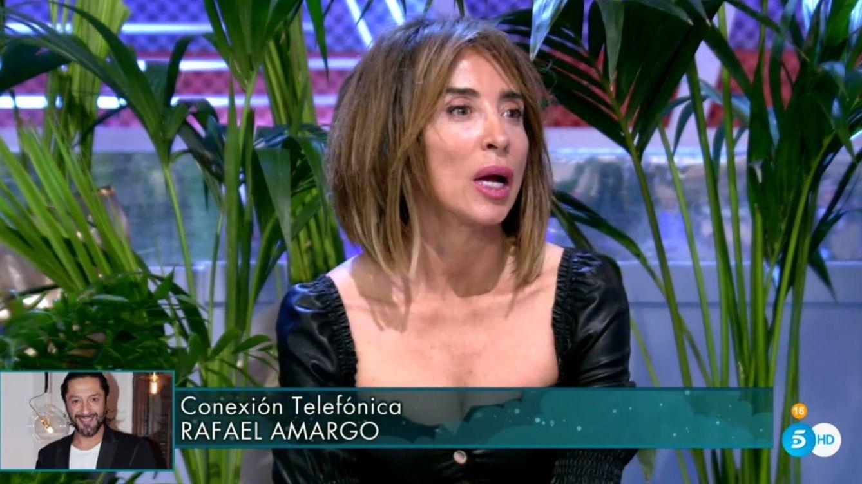 María Patiño abandona el plató de 'Sábado Deluxe' por un comentario de Rafael Amargo