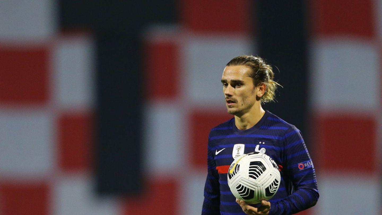 Griezmann, en los últimos partidos con Francia. (Reuters)