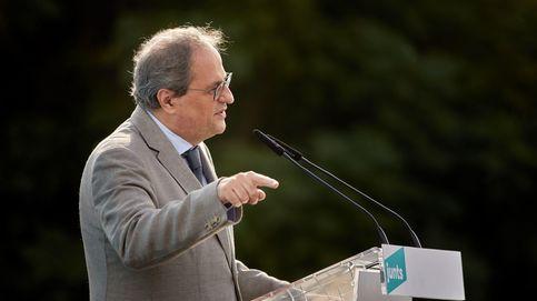 Los expresidentes Torra, Puigdemont y Mas, juntos en Perpiñán el viernes