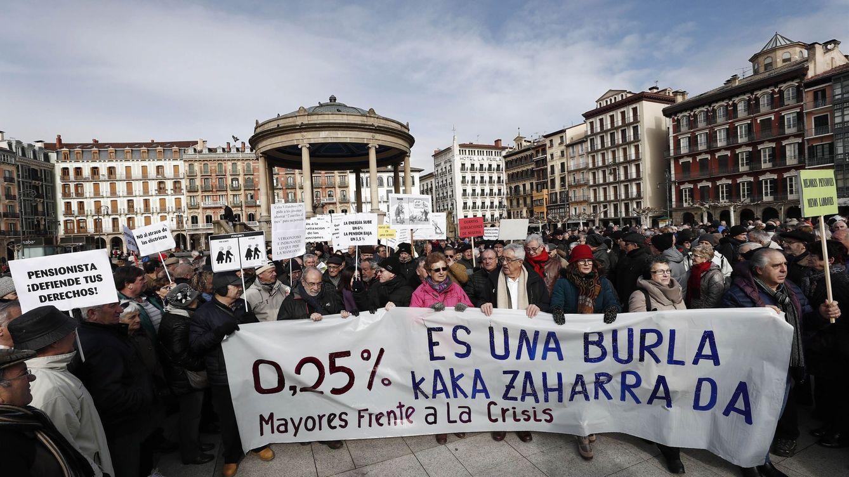 Foto: Manifestacion pensionistas. Foto: Efe.