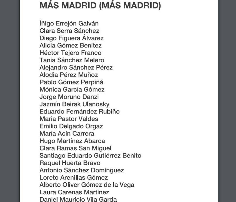 Pinche en la imagen para ver la papeleta completa de Más Madrid.