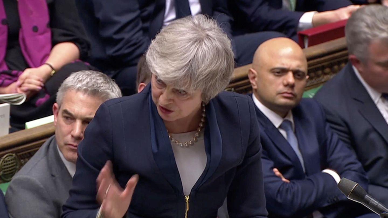 Theresa May durante su intervención en Westminster. (Reuters)