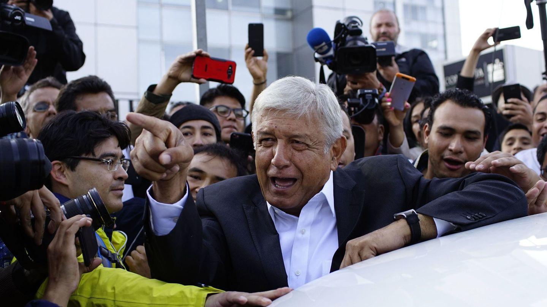 Andrés Manuel López Obrador, tras votar en su colegio en Ciudad de México. (Reuters)