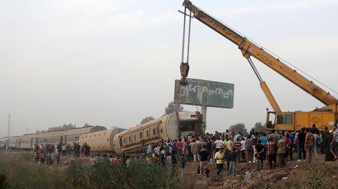 Un tren descarrila en Egipto