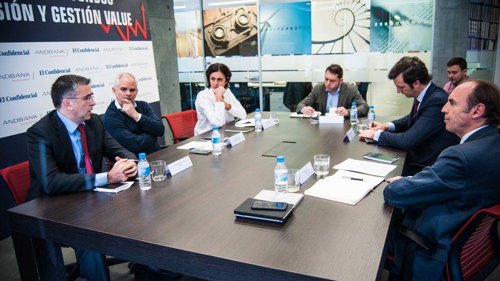 Foto: Mesa redonda de Andbank sobre inversión 'value'. (Carmen Castellón)