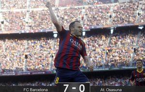 Iniesta y Messi sacan brillo al Barça en la antesala del Santiago Bernabéu