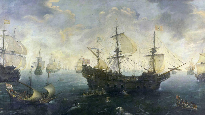 Foto: La Gran Armada según Cornelis Claesz van Wieringen.