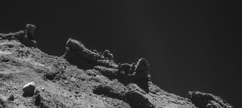 Foto: El cometa fotografiado desde la Rosetta (ESA)