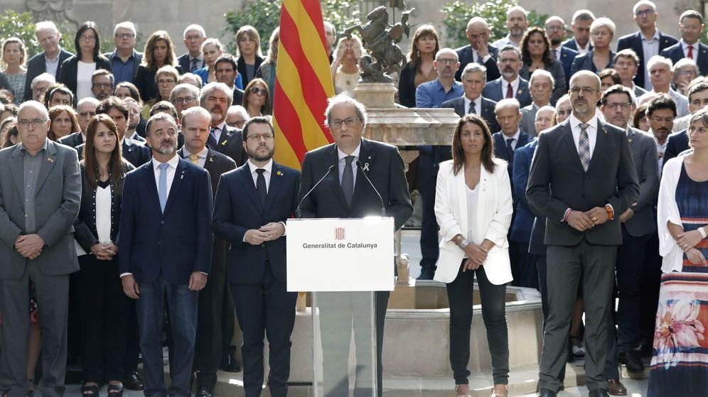 Foto: El presidente de la Generalitat, Quim Torra, en un discurso este 1-O. (EFE)