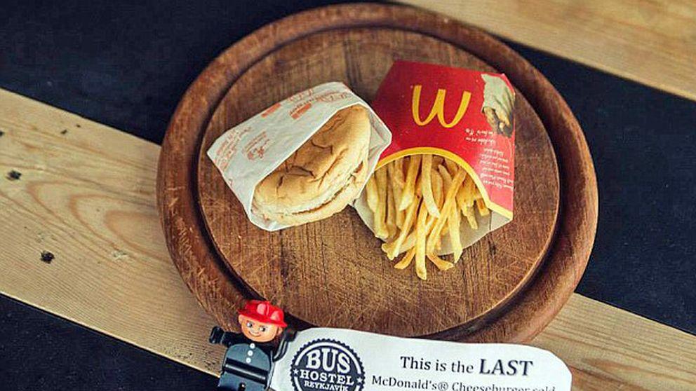 Así luce la última hamburguesa de McDonald's vendida en Islandia