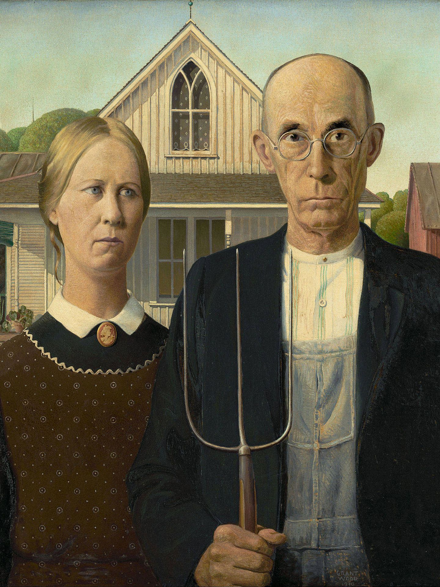 'American Gothic' (1930), de Grant Wood.