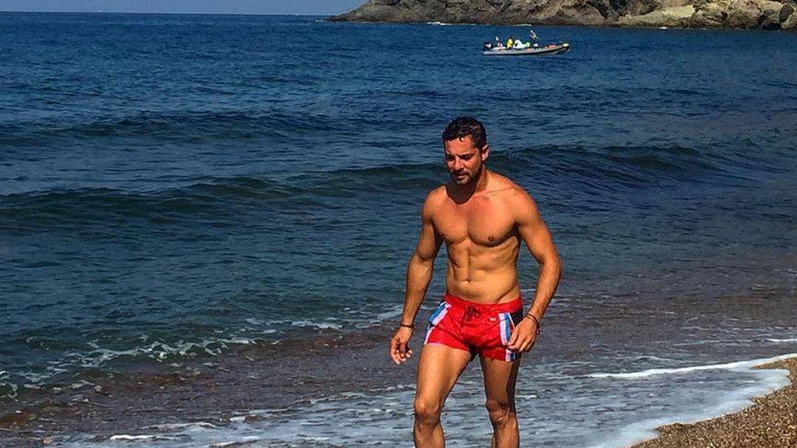 Foto: David Bisbal en las playas de Almería. (Instagram)