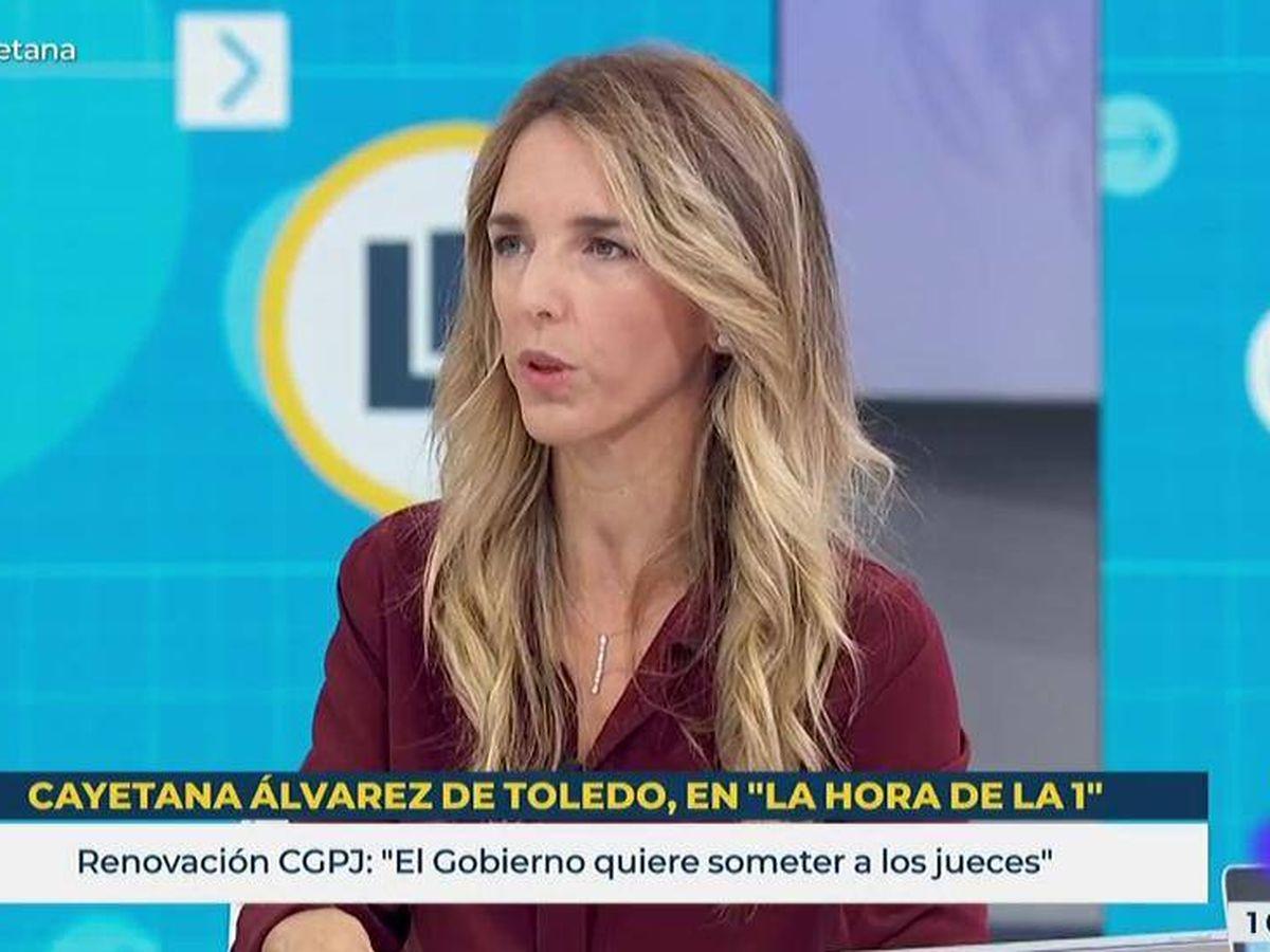 Foto: Cayetana Álvarez de Toledo, en 'La hora de La 1'. (TVE)