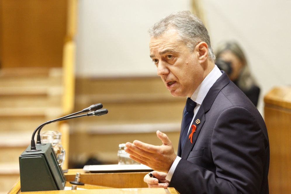 Foto: Urkullu, en el Parlamento Vasco. (EFE)