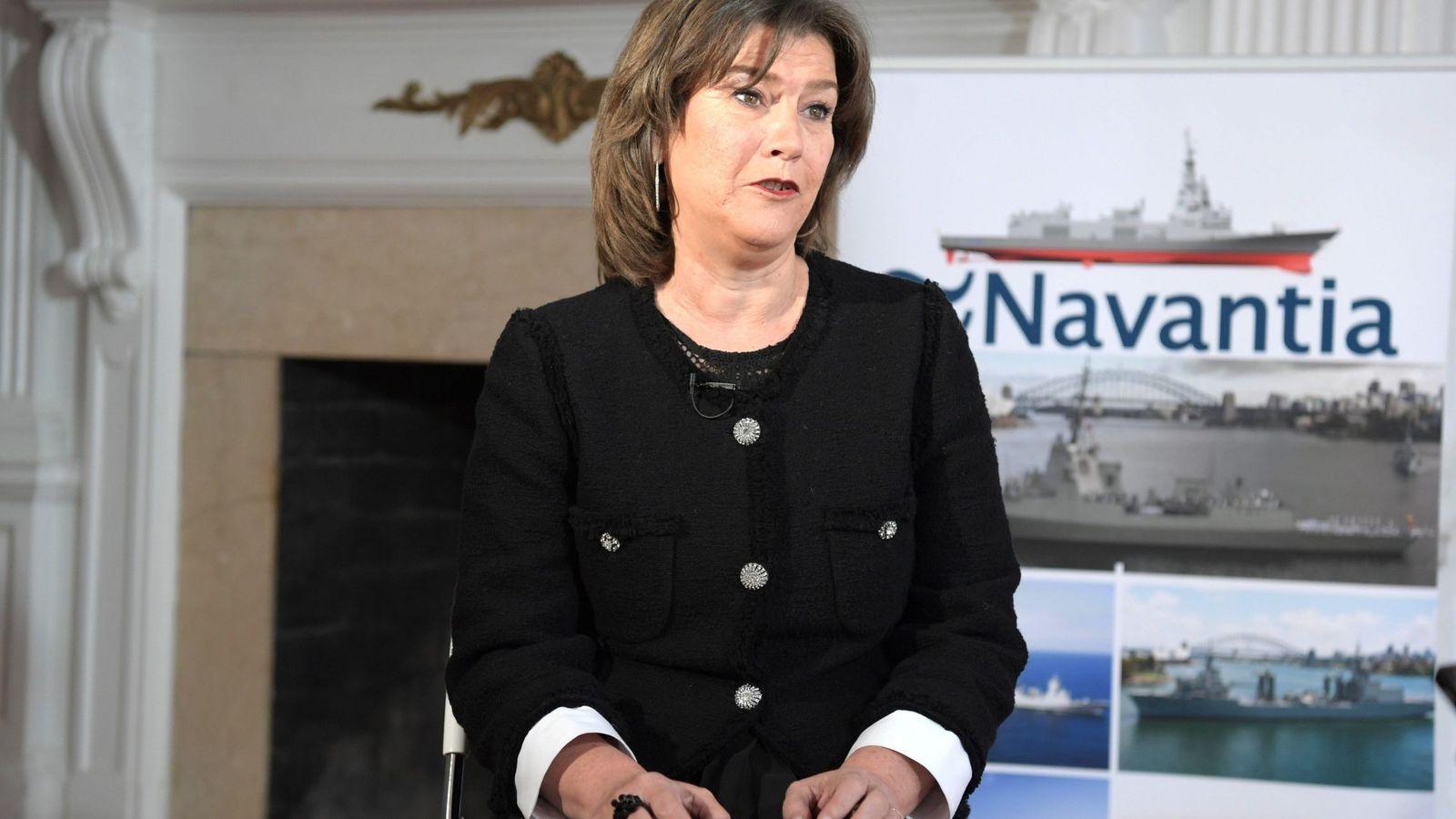 Foto: La presidenta del astillero español Navantia, Susana de Sarriá. (EFE)