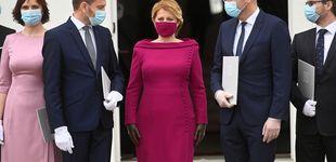 Post de La presidenta de Eslovaquia conjunta sus mascarillas con sus looks