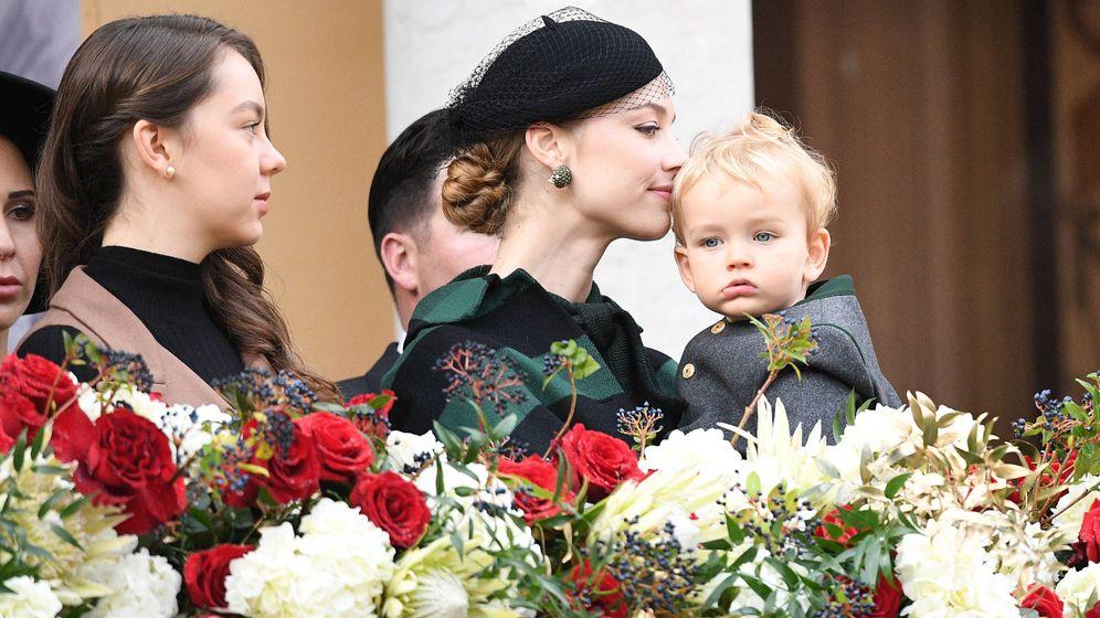 Foto: Beatrice Borromeo con su hijo Francesco. (Getty)