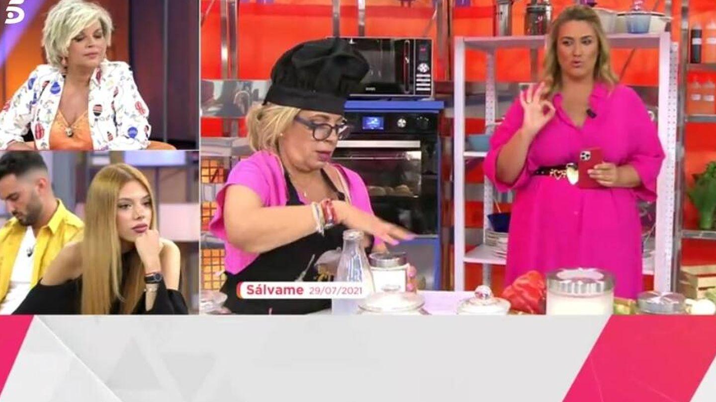 Terelu y Alejandra opinando sobre Borrego. (Telecinco).