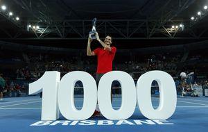 Mil veces Federer: gana el torneo de Brisbane y llega a 1.000 triunfos