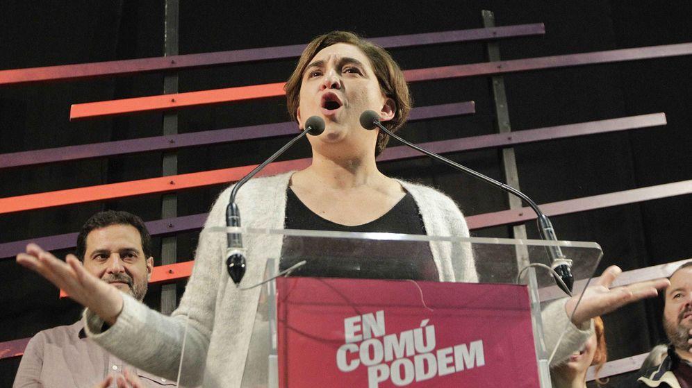 Foto: La alcaldesa de Barcelona, Ada Colau, durante la celebración de los resultados de En Comú Podem. (Efe)