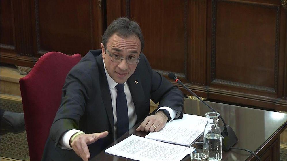Foto: Captura de la señal institucional del Tribunal Supremo con la declaración del exconseller de Territori , Josep Rull.