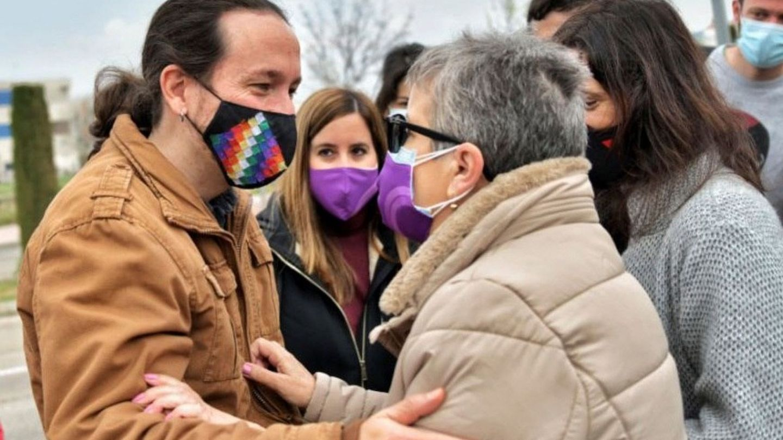 Pablo Iglesias, en Parla. (EFE)