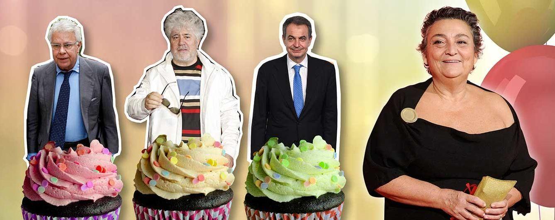 Almodóvar, Zapatero y Felipe González, juntos en el cumpleaños de Benarroch