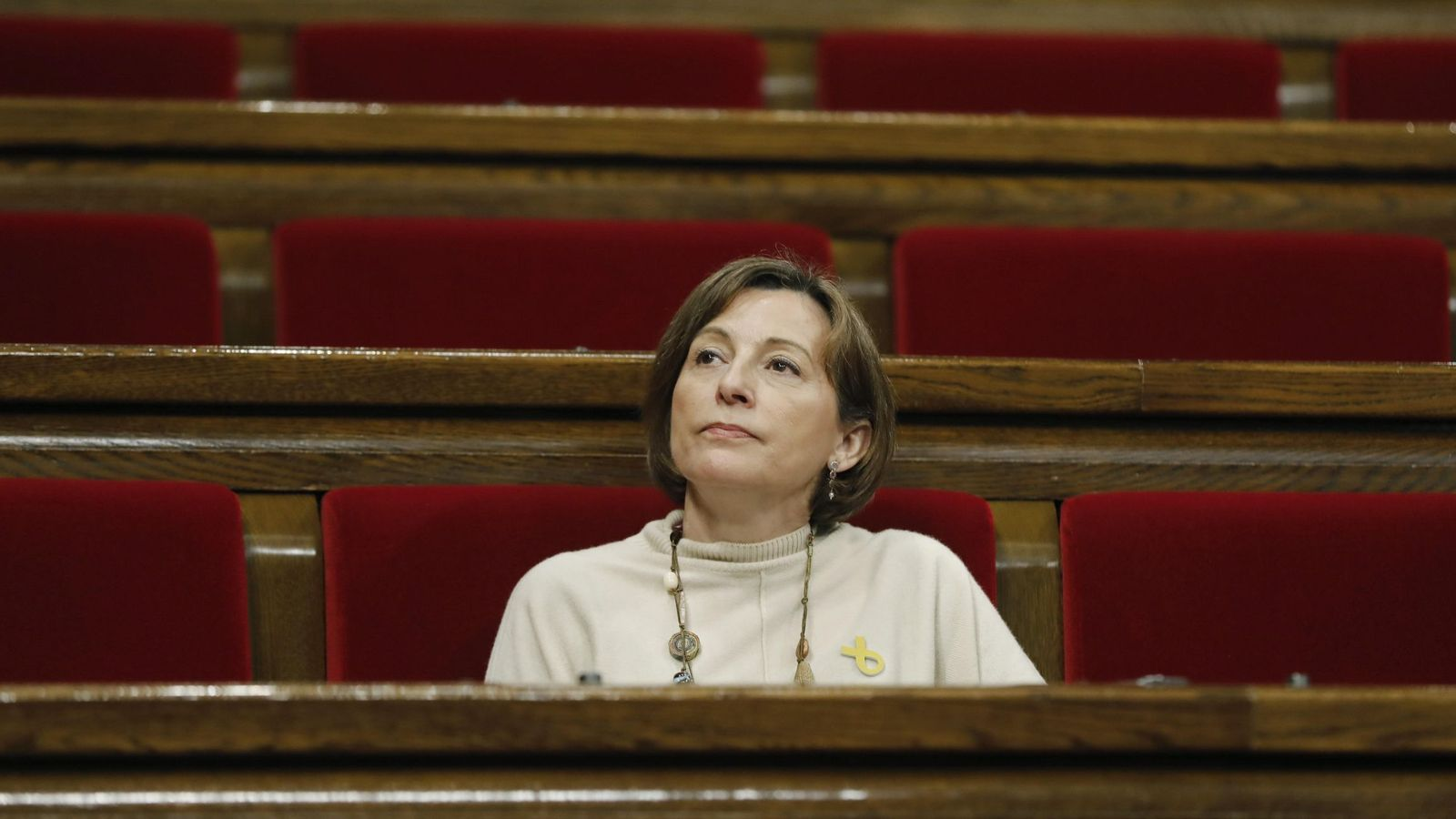 Foto: Carme Forcadell, en el Parlament de Catalunya. (EFE)