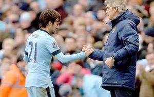 Silva lidera la presión del City al Chelsea, de la que se aleja el United