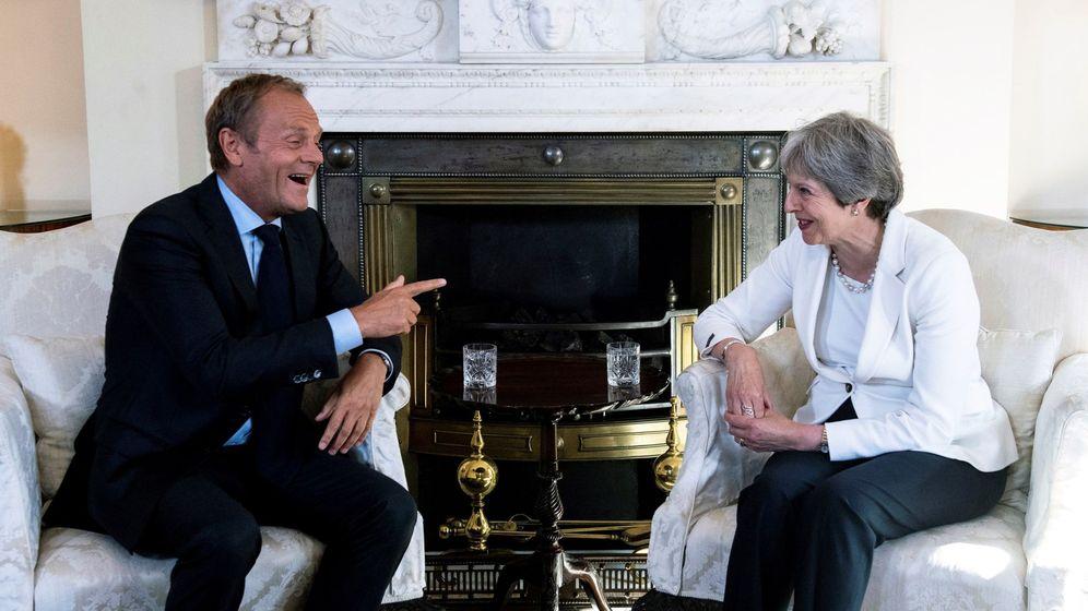 Foto: Tusk visita a May en Londres en junio (EFE)