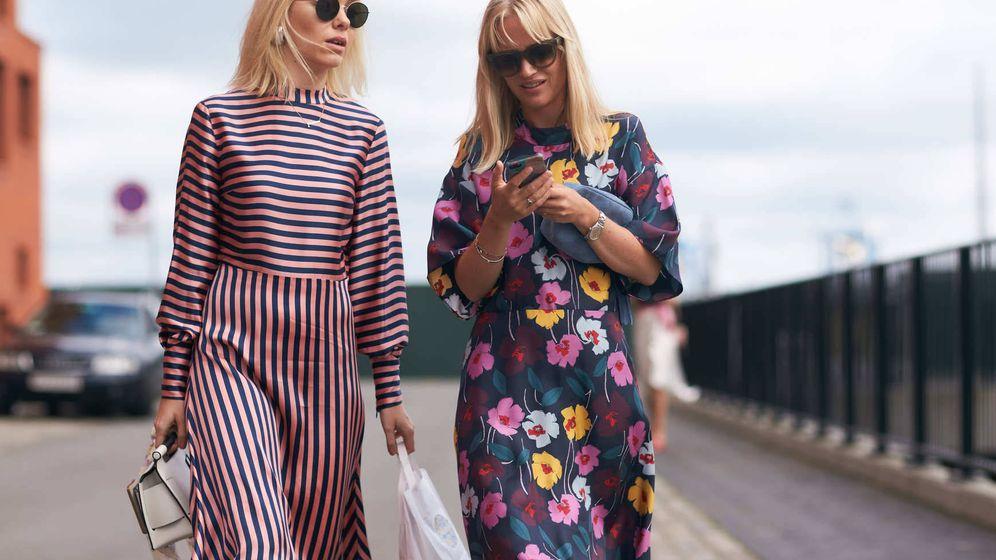Foto: Estampados y con manga, vestidos perfectos para llevar a la oficina. (©Imaxtree)