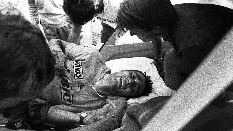 Luis Ocaña, tras caerse en el Tour de Francia del 71. (Cordon Press)