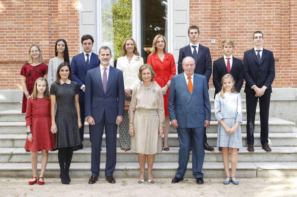Foto: Foto histórica de la familia real española. (Casa Real)