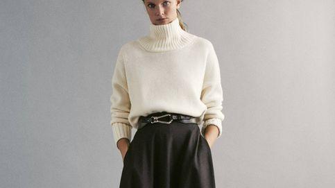 Esta falda de Massimo Dutti es maravillosa y con este jersey es aún mejor
