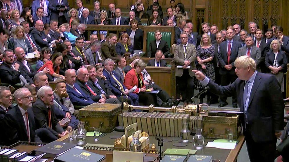 Foto: El primer ministro Boris Johnson, en el Parlamento. (Reuters)