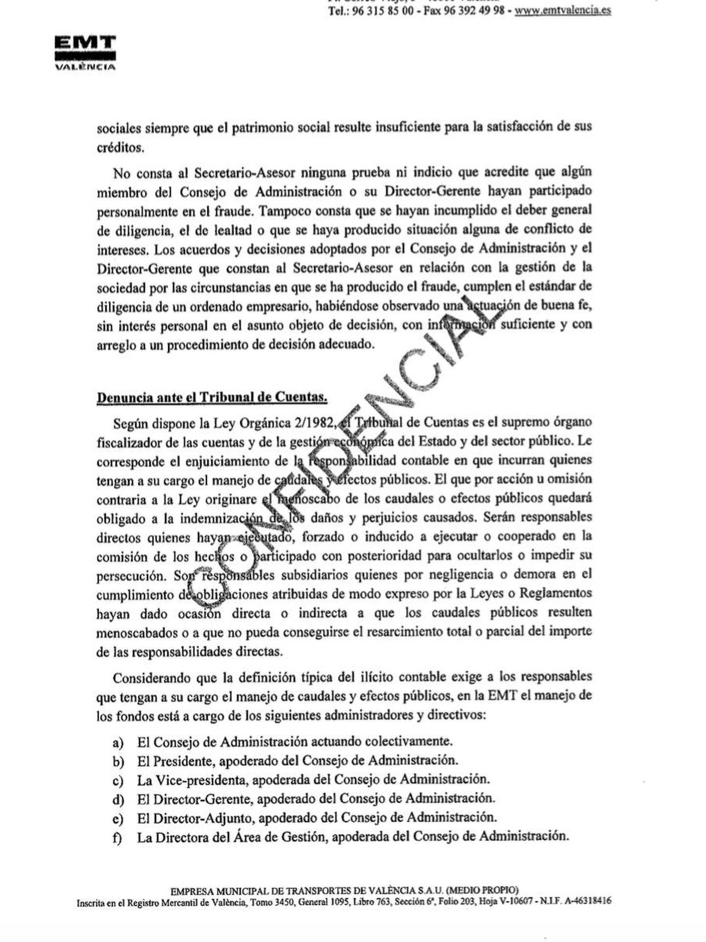 Pinche para leer el informe del secretario dimitido tras trascender su vínculo con el cuñado de Joan Ribó.