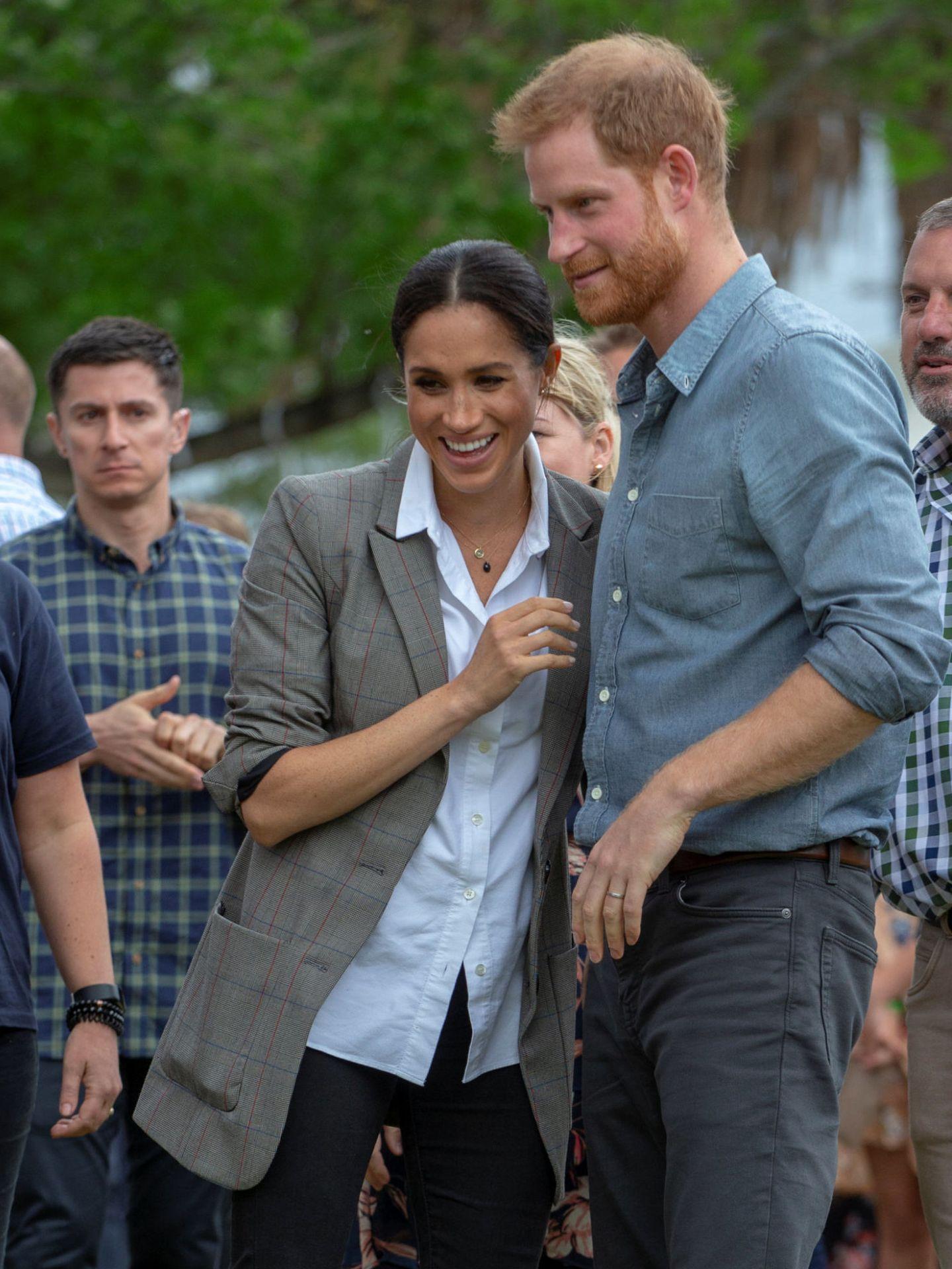 Meghan, con la blazer de Serena Williams en Australia, en octubre. (Reuters)