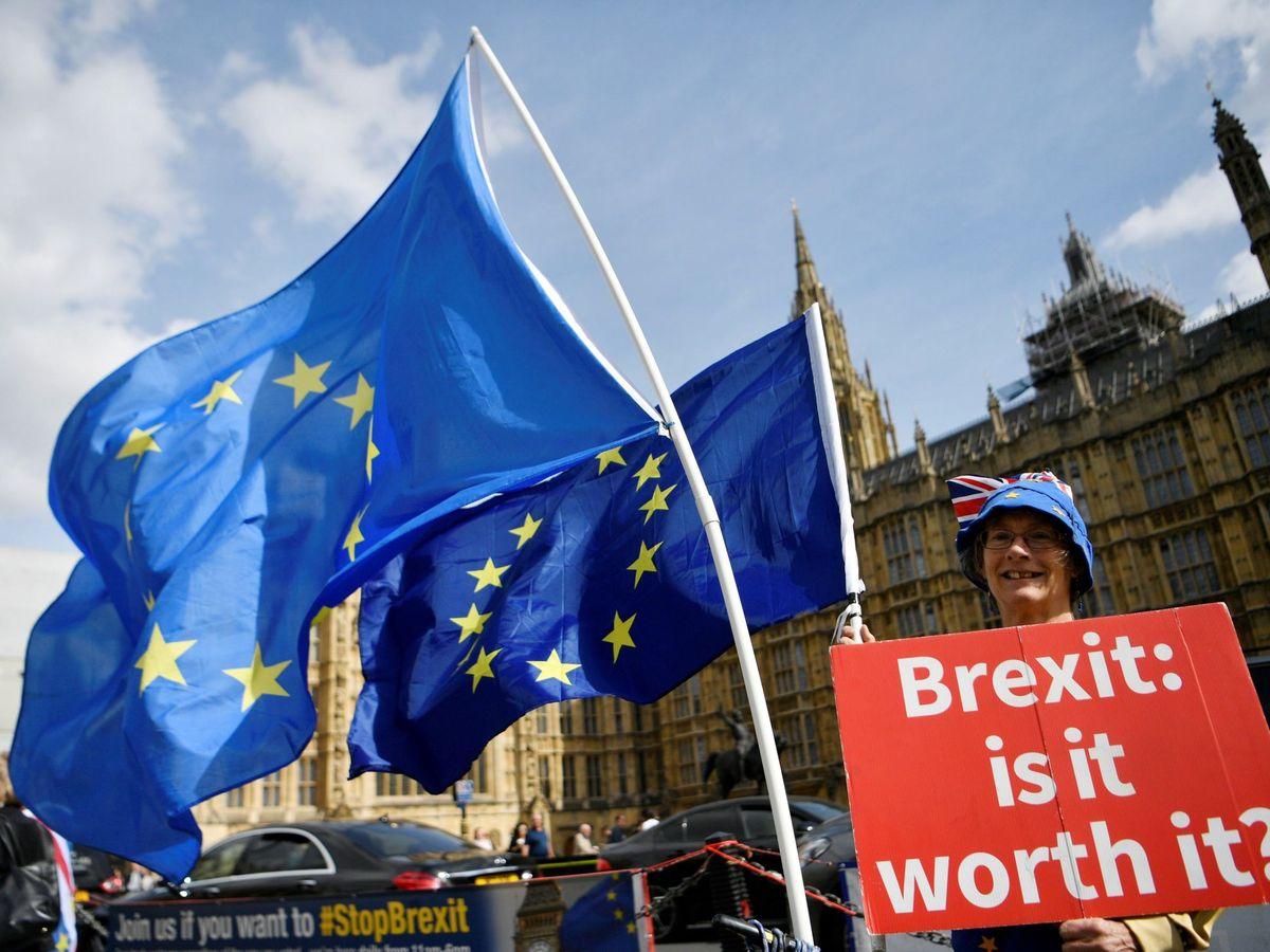 Foto: Una protesta contra el Brexit en el Reino Unido. (EFE)