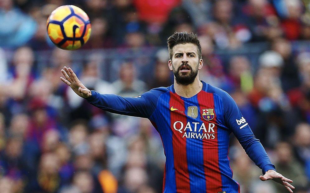 Foto: Gerard Piqué, durante un partido con el Barcelona (EFE)