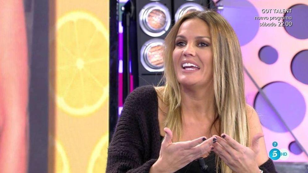 Foto: Marta López, en 'Sálvame'. (Telecinco)