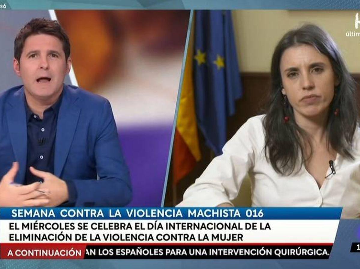 Foto: Jesús Cintora e Irene Montero. (TVE).