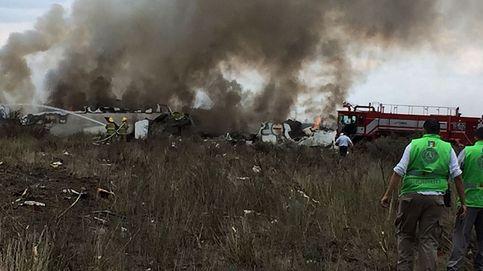 Las imágenes del accidente de avión en México
